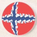 Norway Gnarly Flag Sandstone Coaster