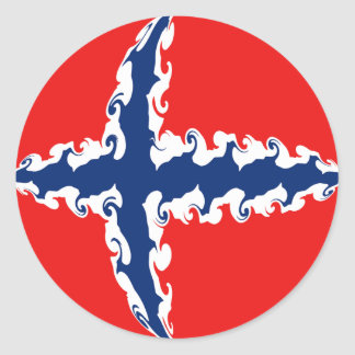 Norway Gnarly Flag Sticker