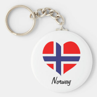 Norway heart flag keychain
