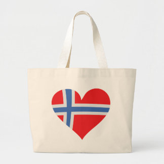norway heart icon canvas bags