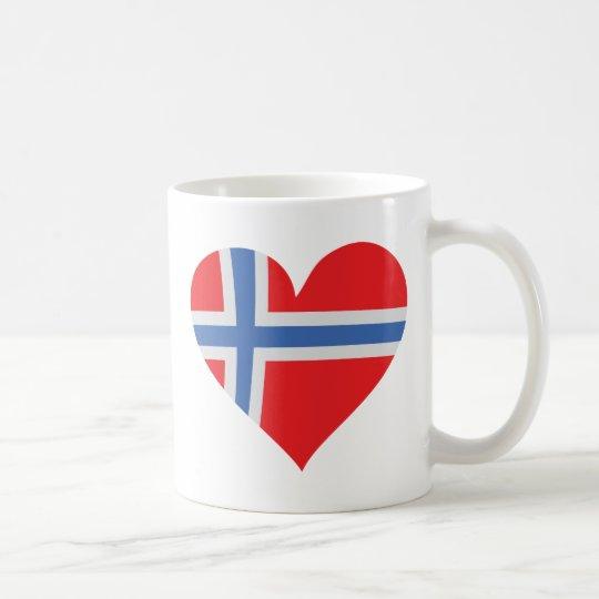 norway heart icon coffee mug