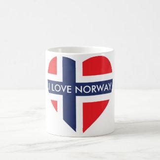 NORWAY HEART SHAPE FLAG COFFEE MUG