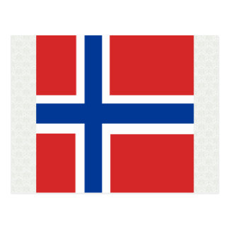 Norway High quality Flag Postcard