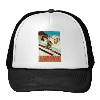 Norway - Home of Skiing Travel Art Hat