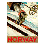 Norway - Home of Skiing Travel Art Postcard