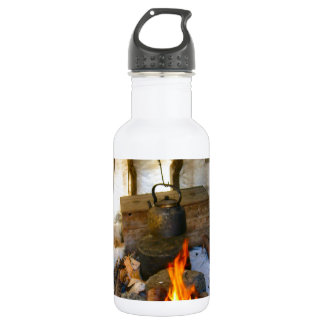 Norway, inside a Sami tent, Lapland Stainless Steel Water Bottle