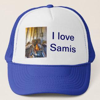 Norway, inside a Sami tent, Lapland Trucker Hat