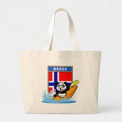 Jumbo Tote Bag with Norway Kayaking Panda design