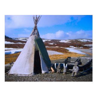 Norway, Lapland, Sami Settlement Postcard