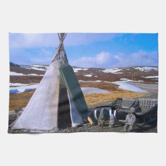 Norway, Lapland, Sami Settlement Towel