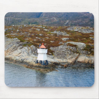 Norway, Lighthouse on the fjord entrance Mouse Pad