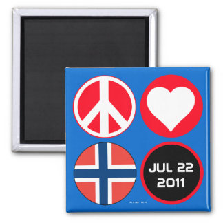 Norway Love Peace Magnet 1