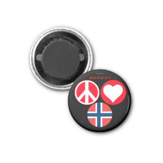 Norway Love Peace Magnet 2