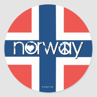 Norway Love Peace Sticker 1
