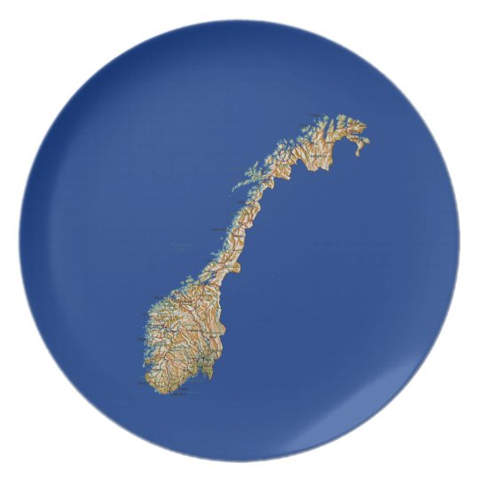 Norway Map Plate