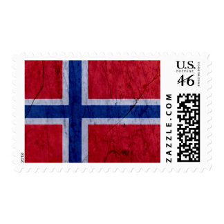 Norway Marble Stone Flag Postage Stamp