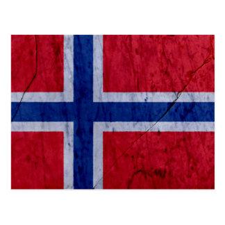 Norway Marble Stone Flag Postcard