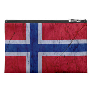 Norway Marble Stone Flag Travel Accessory Bag
