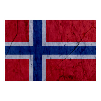 Norway Marble Stone Wall Poster