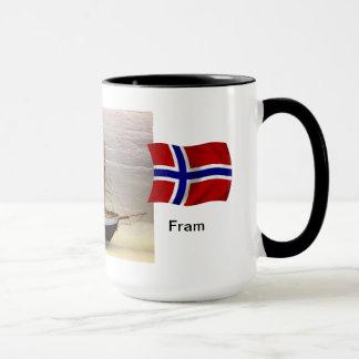 """Norway, Model of Nansen's ship """"Fram"""" Mug"""