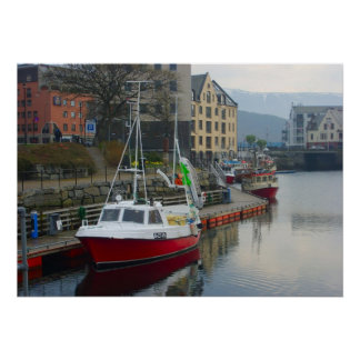Norway, Modern inshore fishing boat in port Poster