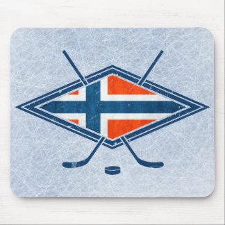 Norway Norge Ice Hockey Logo Mouse Pad