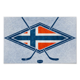 Norway Norge Ice Hockey Logo Poster