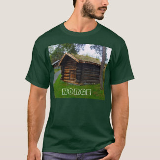 Norway, Norge,Wooden house in high pastures T-Shirt