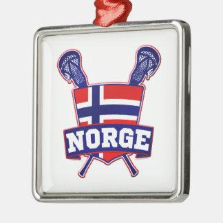 Norway Norsk Lacrosse Metal Ornament