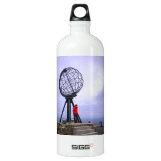 Norway, North Cape, globe symbol Aluminum Water Bottle