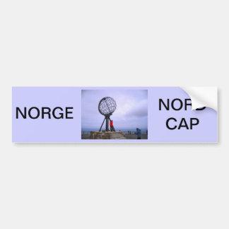 Norway, North Cape, globe symbol Bumper Sticker