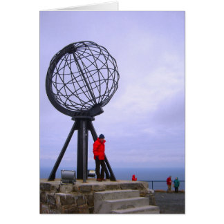 Norway, North Cape, globe symbol Card