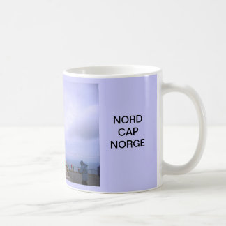 Norway, North Cape, globe symbol Coffee Mug