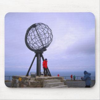 Norway, North Cape, globe symbol Mouse Pad