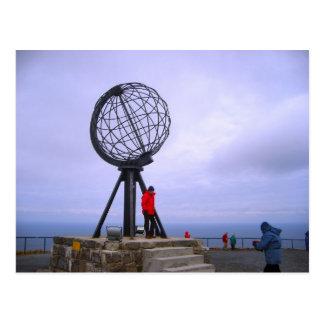 Norway, North Cape, globe symbol Postcard