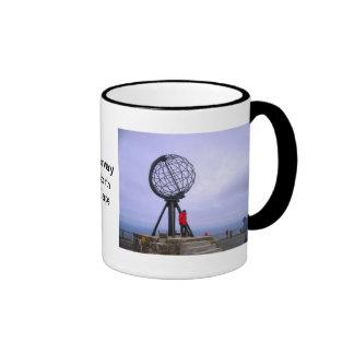 Norway, North Cape, globe symbol Ringer Mug