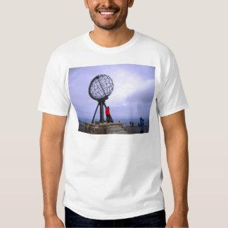 Norway, North Cape, globe symbol T-shirt