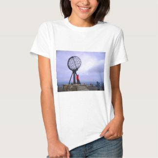 Norway, North Cape, globe symbol T Shirt
