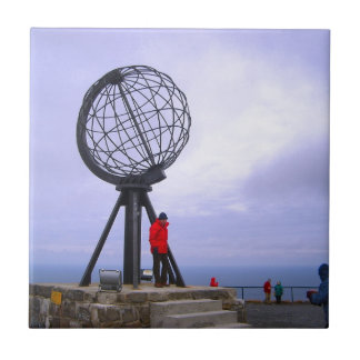 Norway, North Cape, globe symbol Tile