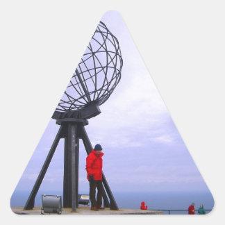 Norway, North Cape, globe symbol Triangle Sticker