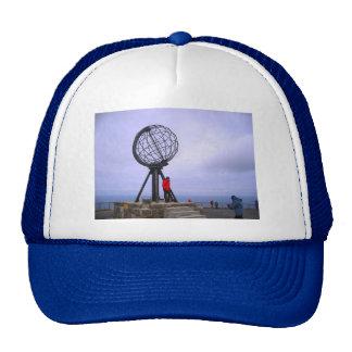 Norway, North Cape, globe symbol Trucker Hat