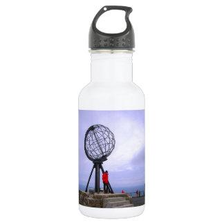 Norway, North Cape, globe symbol Water Bottle