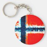 Norway Norway Basic Round Button Keychain