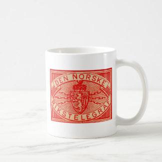 Norway Norwegian Den Norske Rikstelegraf Vintage L Mugs