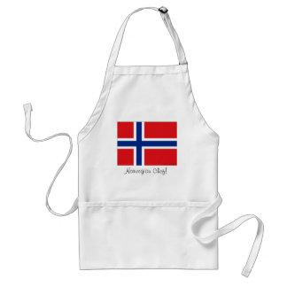 Norway norwegian flag chef apron souvenir