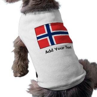 Norway - Norwegian Flag Dog Tee Shirt