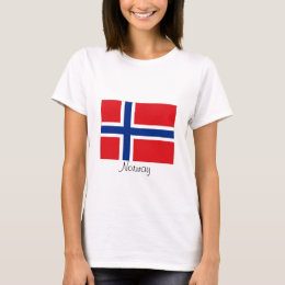 Norway norwegian flag tshirt