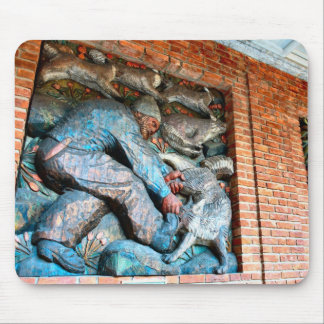 Norway, Oslo City Hall, wooden mural Mouse Pad