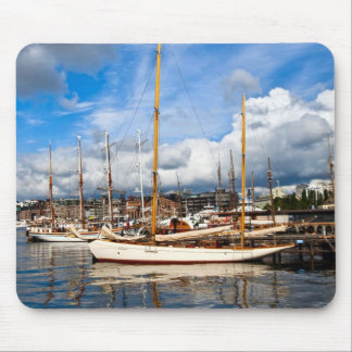 Norway,  Oslo, Harbour, Traditional yachts Mouse Pad