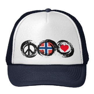Norway Peace Love Hat 1